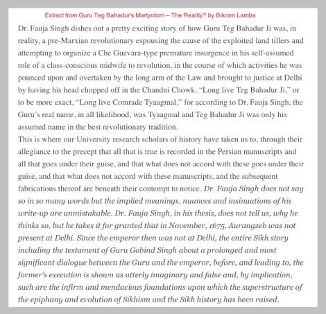 Fauja Singh on Guru Teg Bahadur