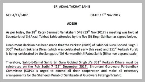 171123 MGC letter per Nanakshahi PIC 03