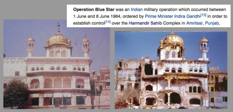 1984 Op blue star Aakaal-Takhat Damage