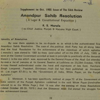 Anandpur Resolution