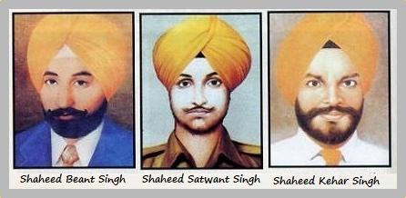 Shaheeds Beant Singh Satwant-Singh Kehar Singh Right