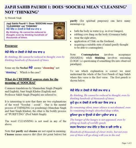 180707 Page 1 Japji Paurdi 1 Soochai Sooch